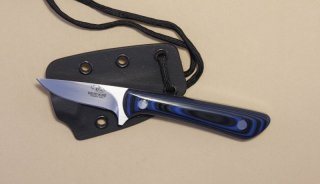 Black and Blue G-10 Caping/Hunting Neck Knife