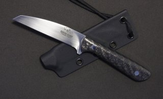 Carbon fiber Wharncliffe Neck Knife