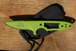 zombie green neck knife